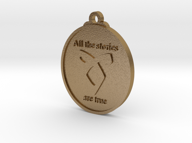 Shadow Hunters Pendant in Polished Gold Steel