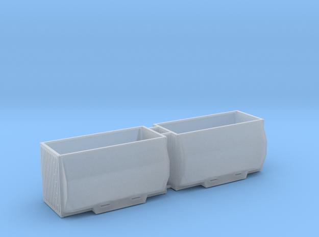 Hackschnitzelcontainer 2erSet - TT 1:120 in Smooth Fine Detail Plastic