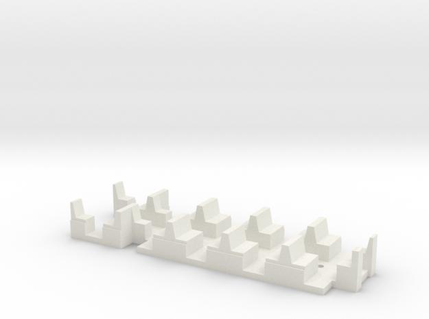 Sieges Motrice Vevey in White Natural Versatile Plastic