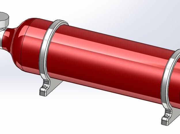 Fire Suppression Bottle in Smoothest Fine Detail Plastic: 1:24