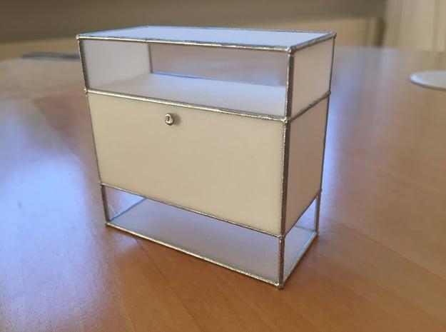 Sideboard/Storage 1:12 in White Processed Versatile Plastic