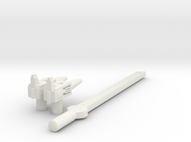 POTP Battleslash & Roadtrap Weapons in White Natural Versatile Plastic