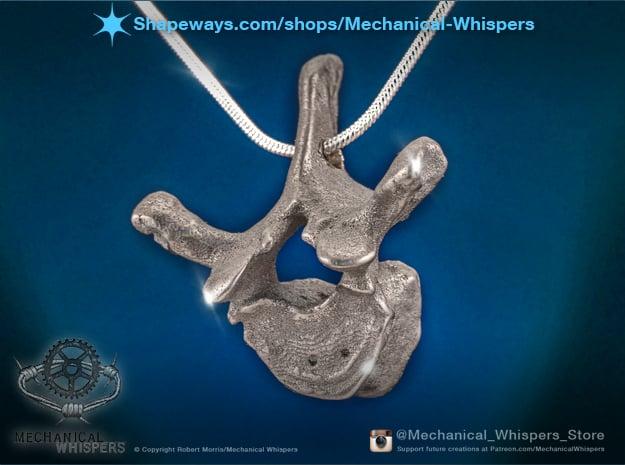 Human Thoracic Vertebrae Pendant