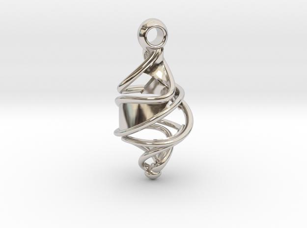 Entangled DNA Pendant in Platinum