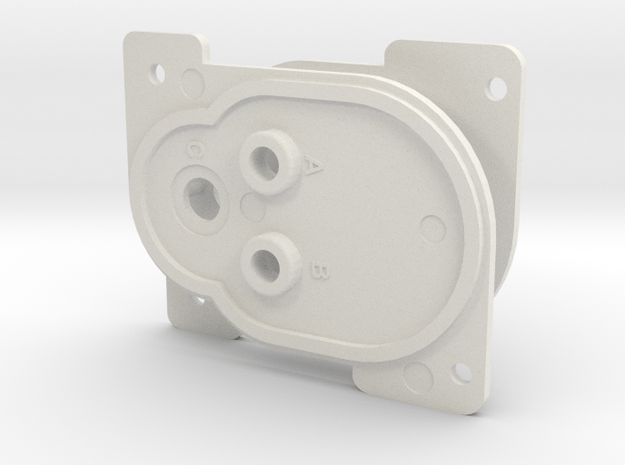 ROTJ EE-3 Front Stock Greeblies in White Natural Versatile Plastic