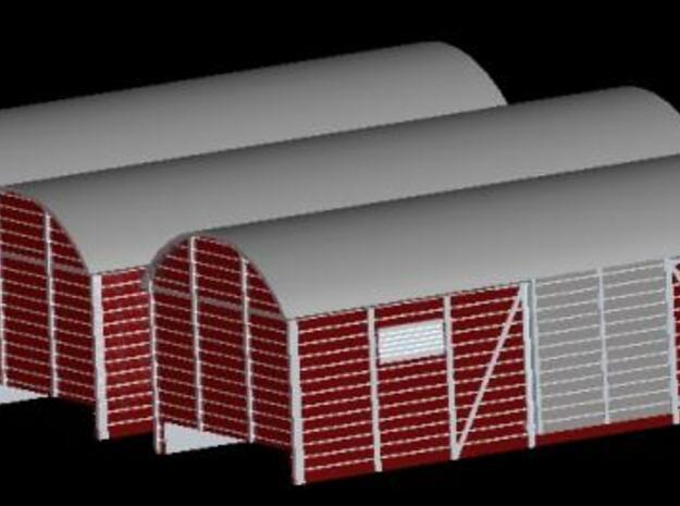 Geisterwagengehäuse für Schienenbus 3 Stück 1:2 in Smooth Fine Detail Plastic