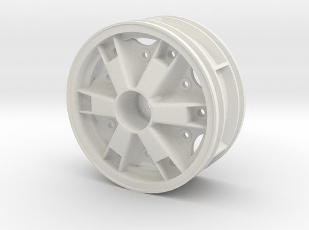 Front Trilex Rim Felge 1:14 Tamiya Trucks in White Natural Versatile Plastic