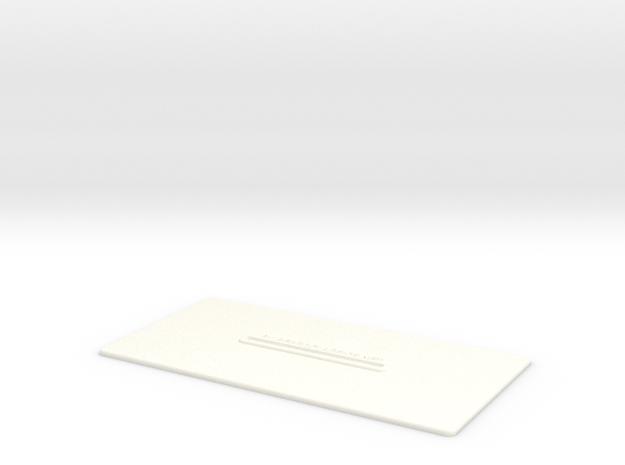Lancia Delta Document holder in White Processed Versatile Plastic