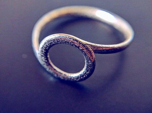 Circle spiral ring in Natural Silver: 10.25 / 62.125