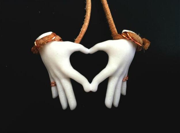 hand heart in White Processed Versatile Plastic