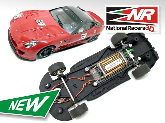 3D Chassis - Carrera Ferrari 599XX (Combo)