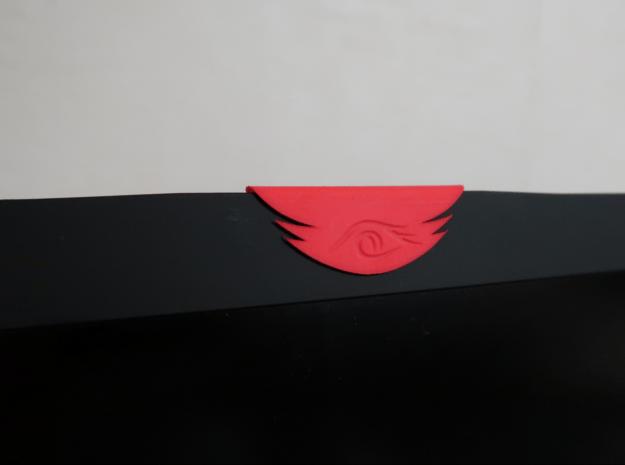 Tribal Eye Webcam Cover (6.7 mm) in Red Processed Versatile Plastic