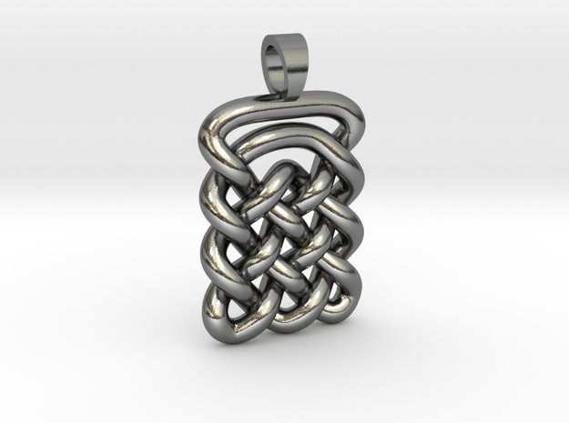 Plate celtic knot [pendant] in Polished Silver