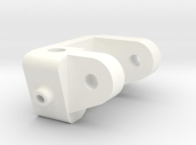 1/5 Scale Caster Block, RH in White Processed Versatile Plastic