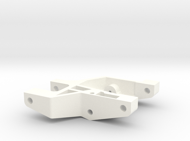 1/5 SCALE FRONT ARM, SHORT, LH in White Processed Versatile Plastic