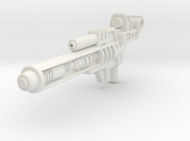 Blaster for Legion TFP Hun-Gurr in White Natural Versatile Plastic