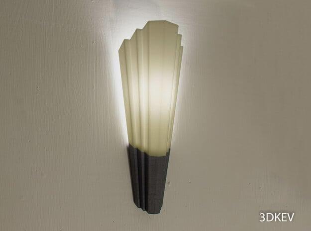 Art Deco lampshade Part 2/2 in Black Natural Versatile Plastic