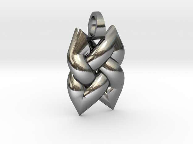 Simple Knot [pendant] in Polished Silver