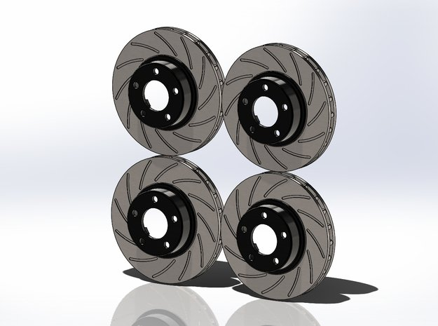 Nascar Rotor Set in Smoothest Fine Detail Plastic: 1:24