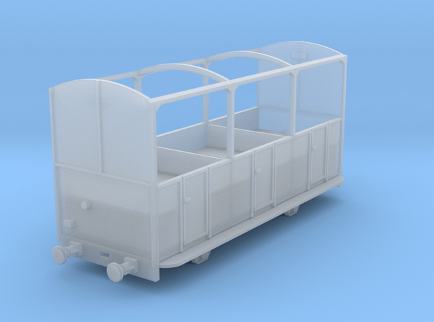 5.5mm Talyllyn Semi-open Carriage No 8-12 in Smooth Fine Detail Plastic