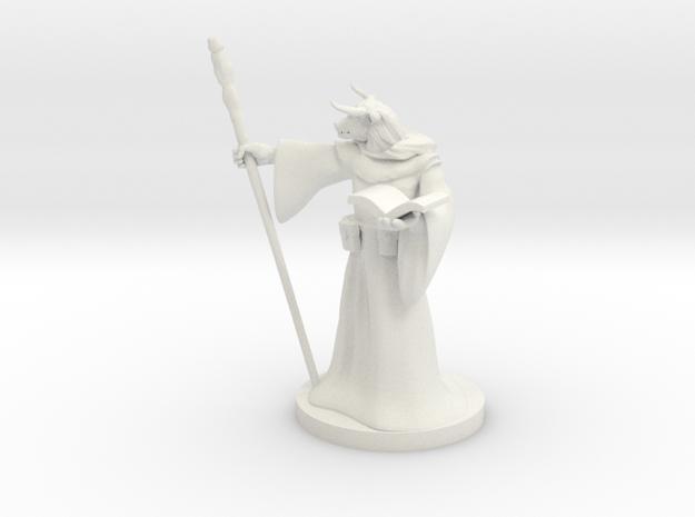 Minotaur Wizard in White Natural Versatile Plastic