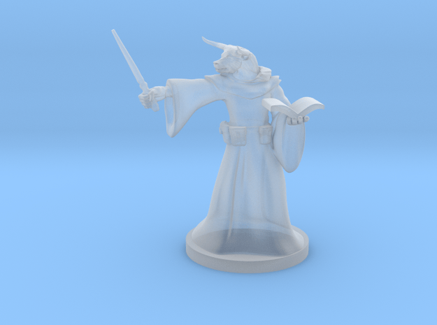 Minotaur Wizard with Wand in Smooth Fine Detail Plastic