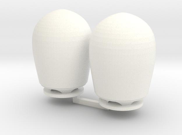 2x Satcom dome  GW fregat 1-100 in White Processed Versatile Plastic
