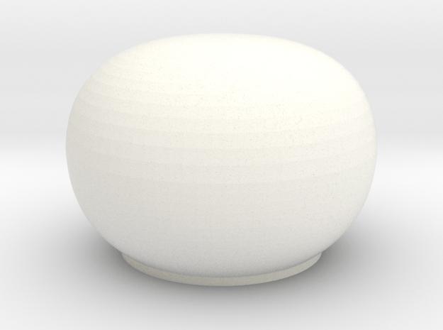 Satcom dome 1/72 in White Processed Versatile Plastic