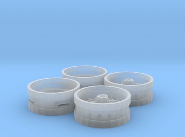 White WFE Style Rims in Smooth Fine Detail Plastic
