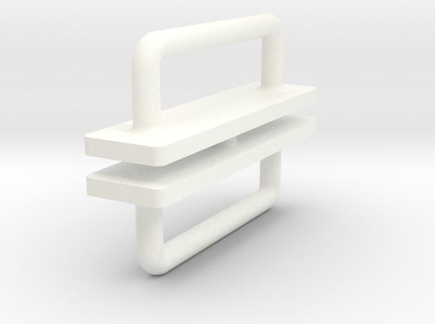 Metall door handle 1:12 in White Processed Versatile Plastic