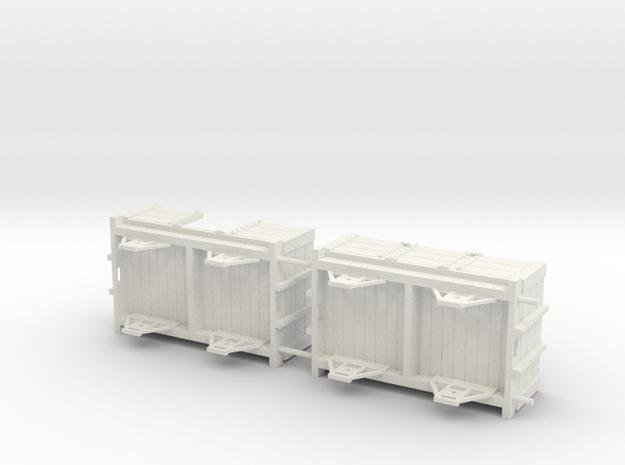 Ravenglass and Eskdale 0-12 Narrow Gauge wagon/coa in White Natural Versatile Plastic