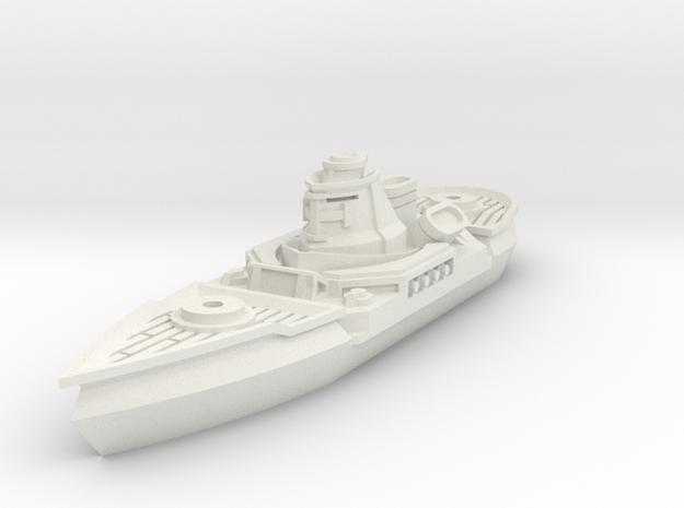 Soldat Class Cruiser in White Natural Versatile Plastic