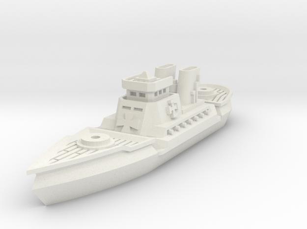Dragoner Class Cruiser in White Natural Versatile Plastic