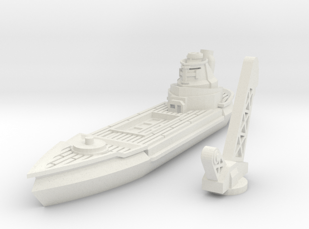 Albatros Class Repair Cruiser in White Natural Versatile Plastic