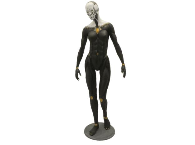 Female form robotic anatomy 20cm in White Natural Versatile Plastic