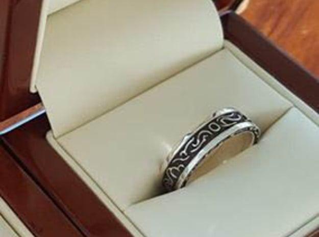 DarkMoon Ring Dark Souls in Antique Silver: 6 / 51.5