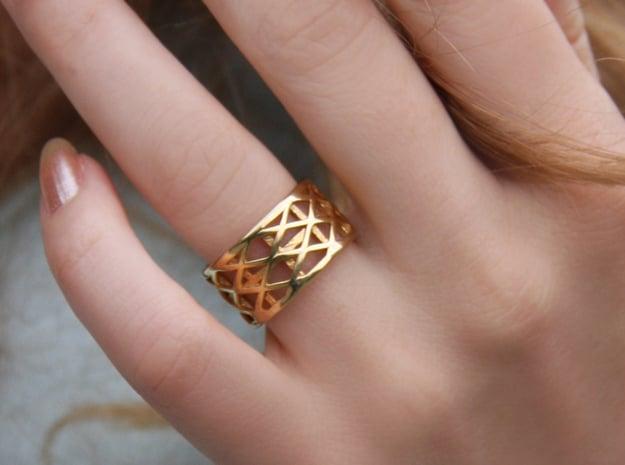 Archi Ring  in 18k Gold Plated Brass: Medium