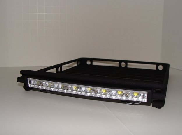 Roof Rack w/ light bar mount in Black Natural Versatile Plastic