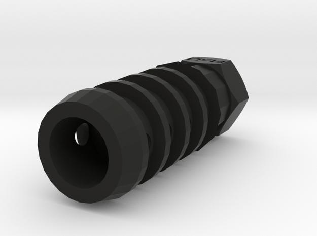 T-37 PT Muzzle Suppressor (14mm-) in Black Natural Versatile Plastic