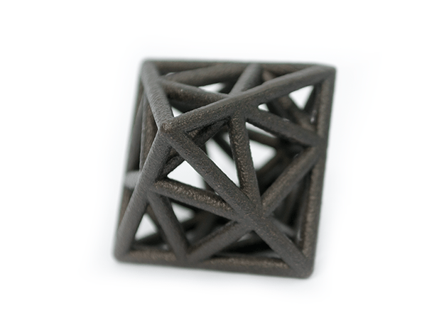 Icosa-Octahedron in Matte Black Steel
