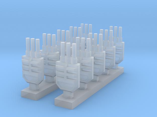 Three Barreled Turret x10 in Smooth Fine Detail Plastic