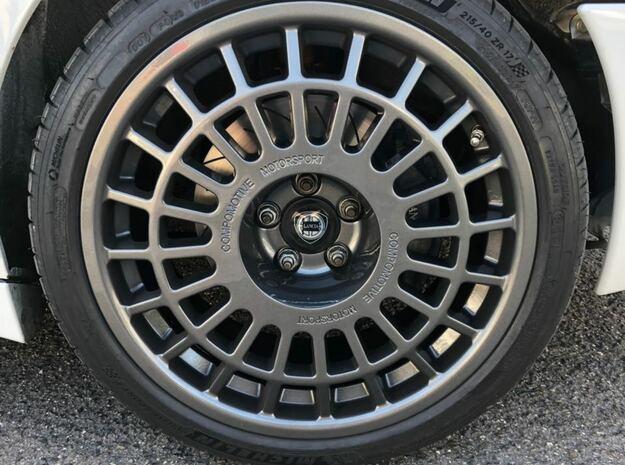 Compomotive wheels center cap Nabendeckel in White Processed Versatile Plastic