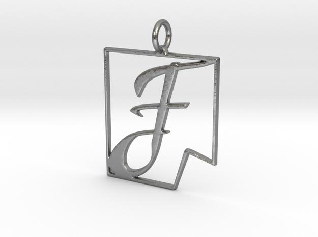 F in Fine (dent) in Natural Silver