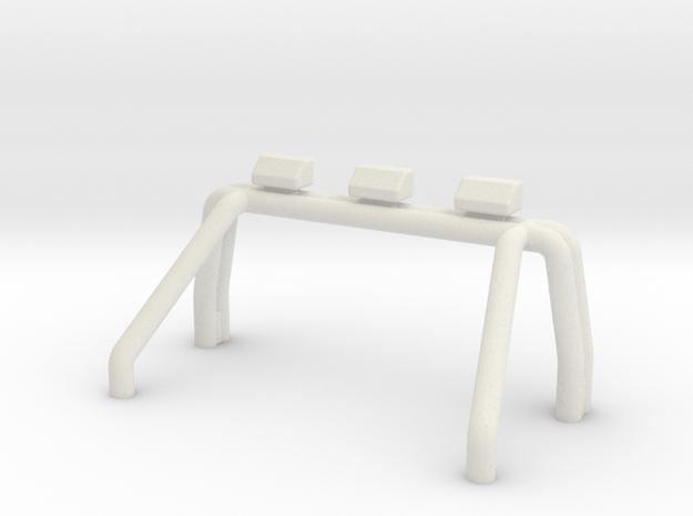 Tamiya Blackfoot Xtreme Roll Bar 3 Square Lights in White Natural Versatile Plastic