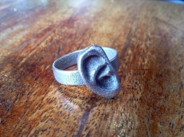 Ear Ring in Polished Bronzed Silver Steel
