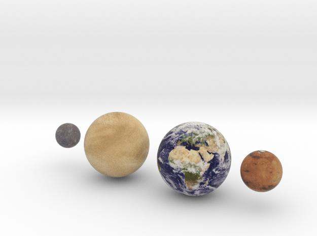 The 4 Rocky Worlds, 1:1.5 billion in Full Color Sandstone