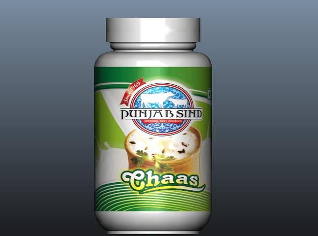Nutrition Bottle in White Natural Versatile Plastic