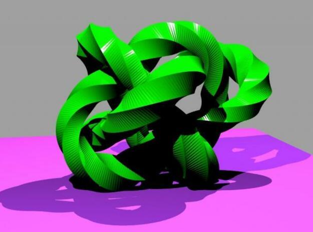 Knot 4 in White Natural Versatile Plastic