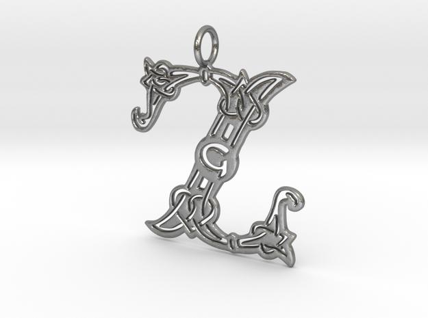 Z (Celtic) in Natural Silver