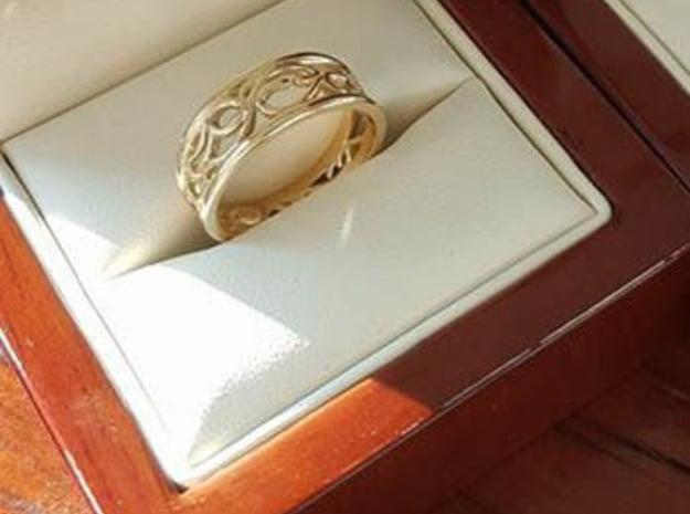 Dark Souls Sun Princess Ring in 14k Gold Plated Brass: 5 / 49